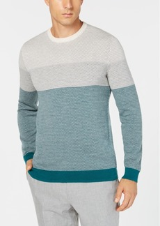 Tasso Elba Men's Imola Colorblocked Supima Cotton Sweater, Created for Macy's