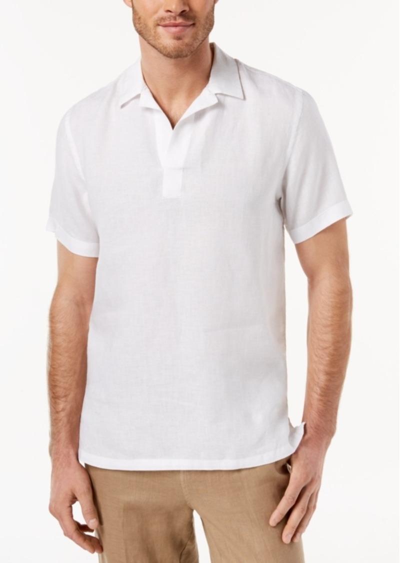 Tasso Elba Men's Island Linen Popover Shirt, Created for Macy's