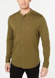 Tasso Elba Men's Knit Band-Collar Shirt, Created for Macy's