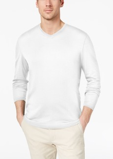 Tasso Elba Men's Supima Blend Knit V-Neck Long-Sleeve T-Shirt, Created for Macy's