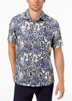 Tasso Elba Men's Leaf-Print Shirt, Created for Macy's
