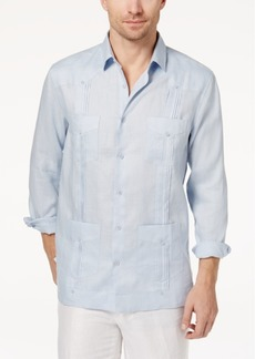 Tasso Elba Men's Linen Guayabera Shirt, Created for Macy's