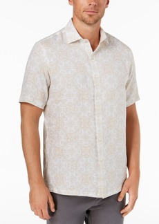Tasso Elba Men's Linen Medallion Shirt, Created for Macy's