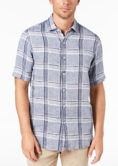 Tasso Elba Men's Linen Plaid Shirt
