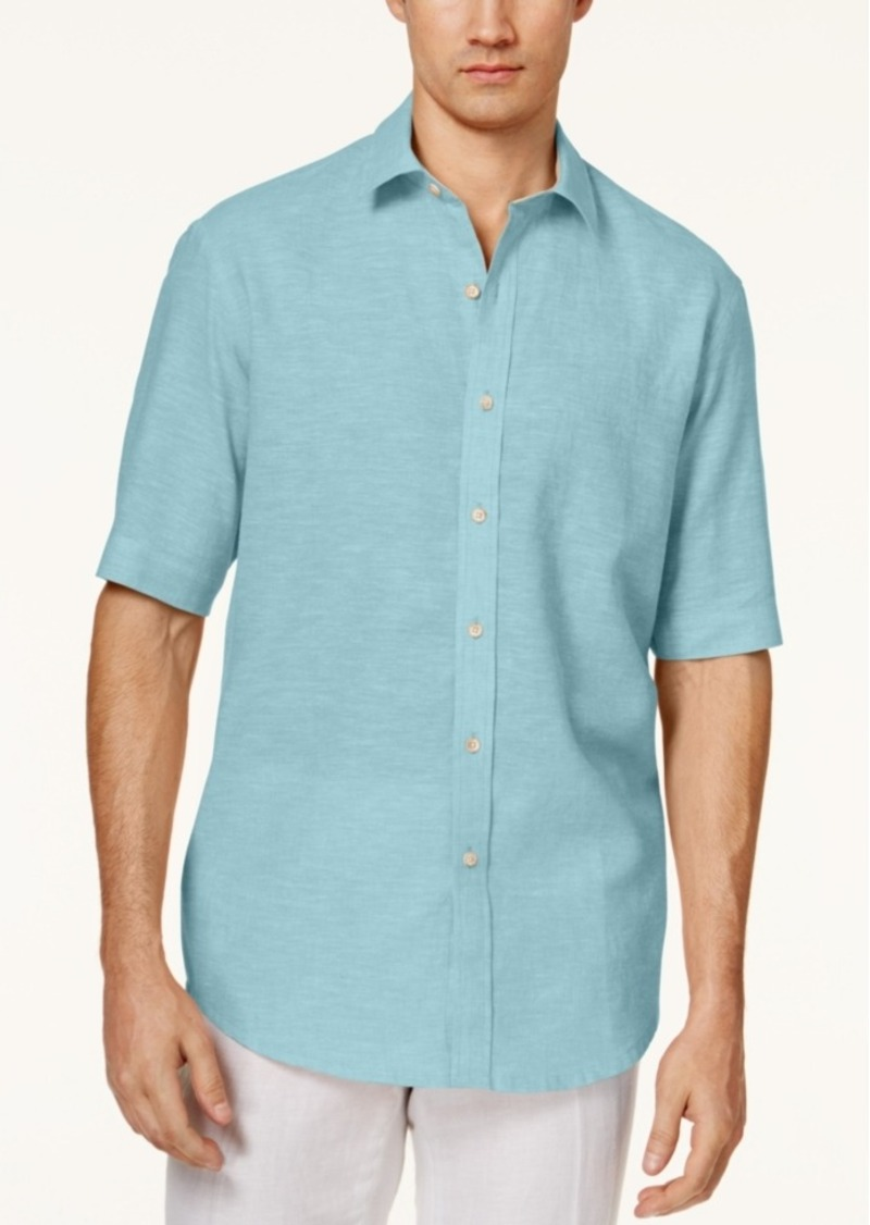 Tasso Elba Men's Linen Short-Sleeve Shirt
