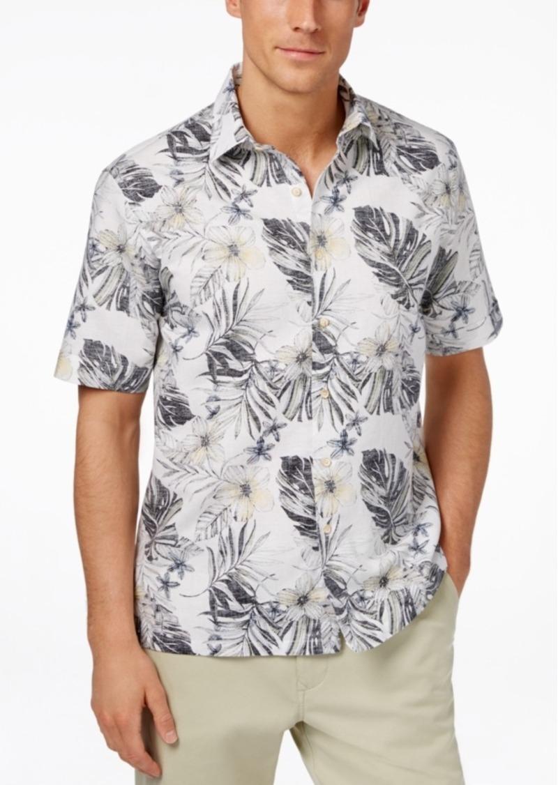 Tasso Elba Men's Linen Tropical Short-Sleeve Shirt