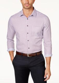 Tasso Elba Men's Long-Sleeve Checked Shirt, Created for Macy's