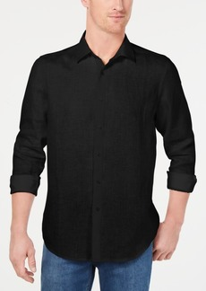 Tasso Elba Men's Long-Sleeve Linen Shirt, Created for Macy's