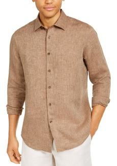 Tasso Elba Men's Long-Sleeve Linen Shirt, Created for Macy's