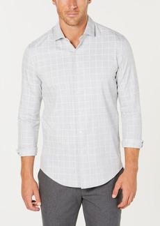 Tasso Elba Men's Lux Lounge Windowpane Shirt, Created for Macy's