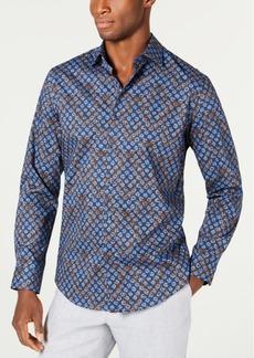 Tasso Elba Men's Stretch Marble Demask Print Shirt, Created for Macy's