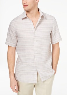 Tasso Elba Men's Matisse Stripe Linen Shirt, Created for Macy's