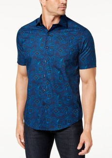 Tasso Elba Men's Medallion Paisley-Print Shirt, Created for Macy's