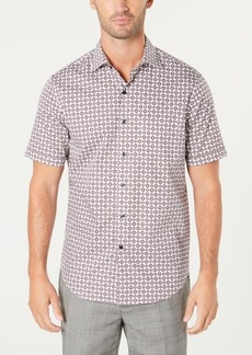 Tasso Elba Men's Medallion-Print Shirt, Created for Macy's