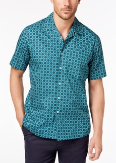 Tasso Elba Men's Medallion Printed Shirt, Created for Macy's