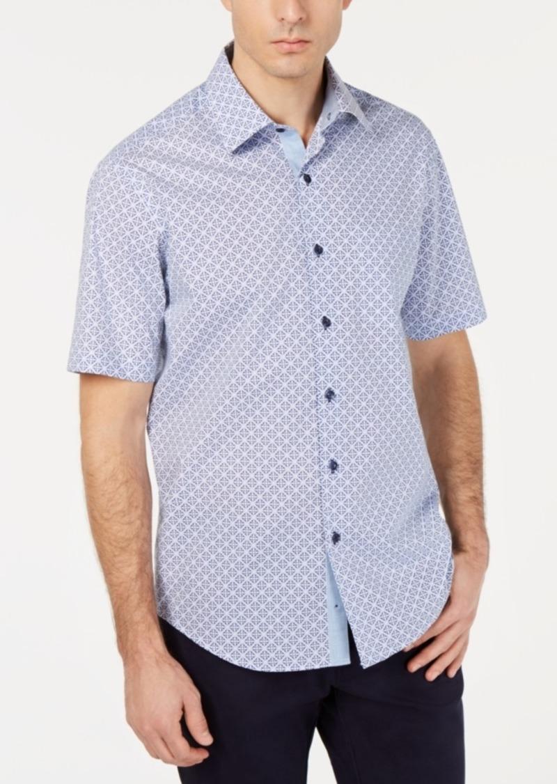 Tasso Elba Men's Medallion Tile Shirt, Created for Macy's
