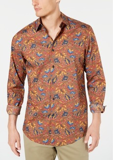 Tasso Elba Men's Medine Floral Floral Print Stretch Shirt, Created for Macy's