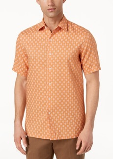 Tasso Elba Men's Mercato Printed Shirt, Created for Macy's