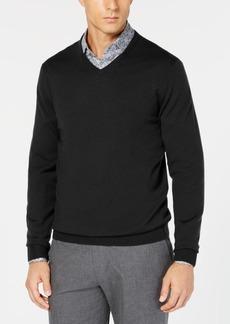 Tasso Elba Men's Merino Wool V-Neck Sweater, Created for Macy's