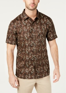 Tasso Elba Men's Merzo Paisley Linen Shirt, Created for Macy's