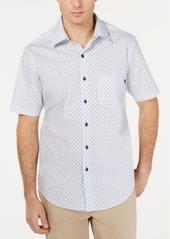 Tasso Elba Men's Mini-Dobby Foulard Shirt, Created for Macy's
