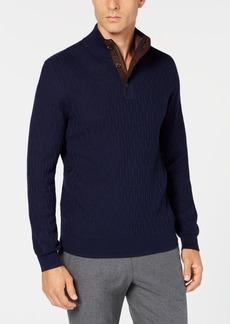 Tasso Elba Men's Supima Mock-Neck Textured Sweater, Created for Macy's