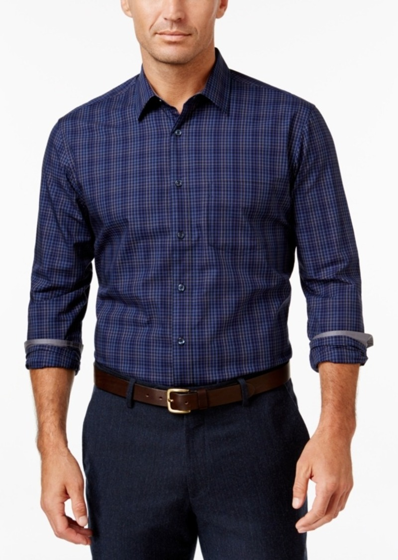 Tasso Elba Men's Multi-Plaid Long-Sleeve Shirt, Classic Fit