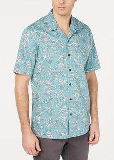 Tasso Elba Men's Notte Floral Graphic Shirt, Created for Macy's