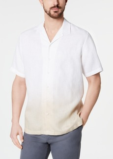 Tasso Elba Men's Ombre Camp Collar Linen Shirt, Created for Macy's