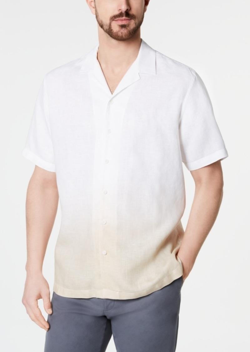 Tasso Elba Men's Ombre Camp Collar Linen Shirt, Created for Macy's