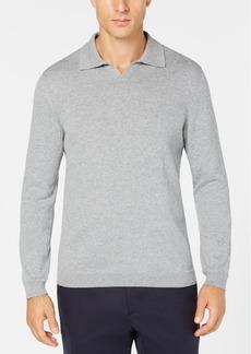 Tasso Elba Men's Open-Collar Supima Cotton Polo, Created for Macy's