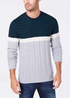Tasso Elba Men's Cable-Knit Sweater, Created for Macy's