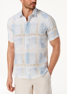 Tasso Elba Men's Painted Plaid Shirt, Created for Macy's