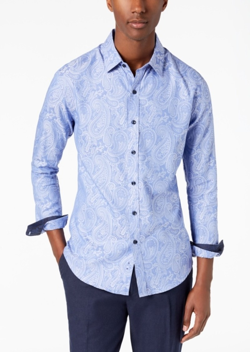 Tasso Elba Men's Paisley Jacquard Shirt, Created for Macy's