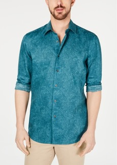 Tasso Elba Men's Paisley Linen Shirt, Created for Macy's