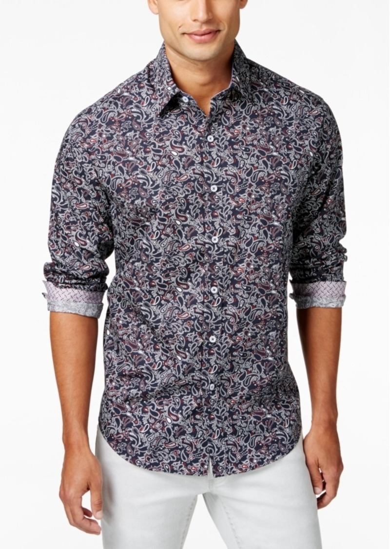 Tasso Elba Men's Paisley Long-Sleeve Shirt