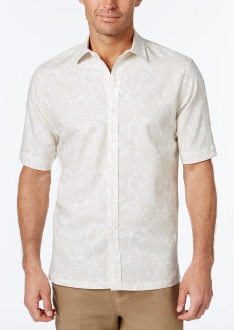 Tasso Elba Men's Paisley-Print Short-Sleeve Shirt, Classic Fit