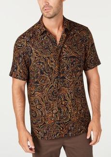 Tasso Elba Men's Paisley Print Short Sleeve Silk Shirt, Created for Macy's