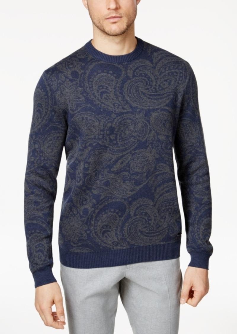Tasso Elba Tasso Elba Men's Paisley Supima Cotton Sweater with ...
