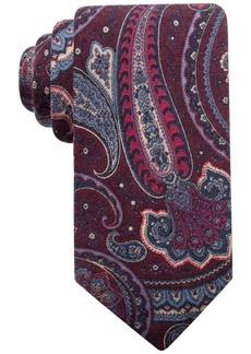 Tasso Elba Men's Paisley Wool Tie, Created for Macy's