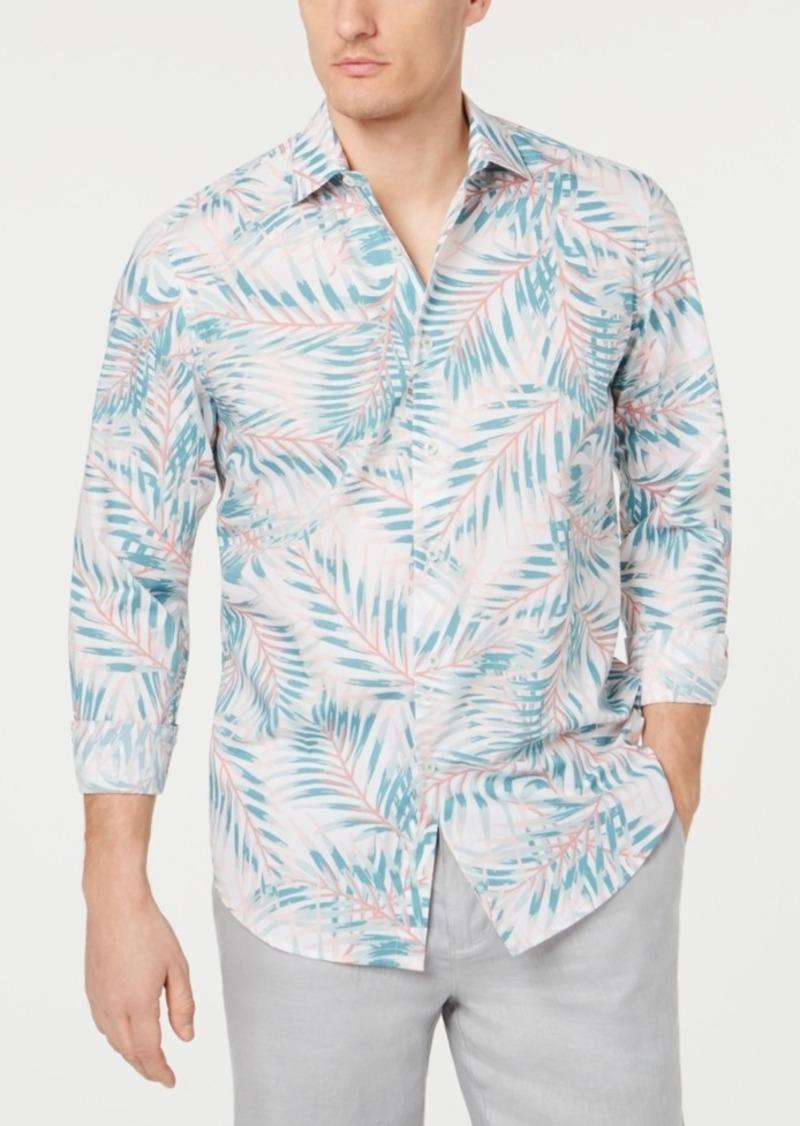 Tasso Elba Men's Palm Print Shirt, Created for Macy's