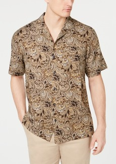 Tasso Elba Men's Patino Paisley-Print Silk Shirt, Created for Macy's