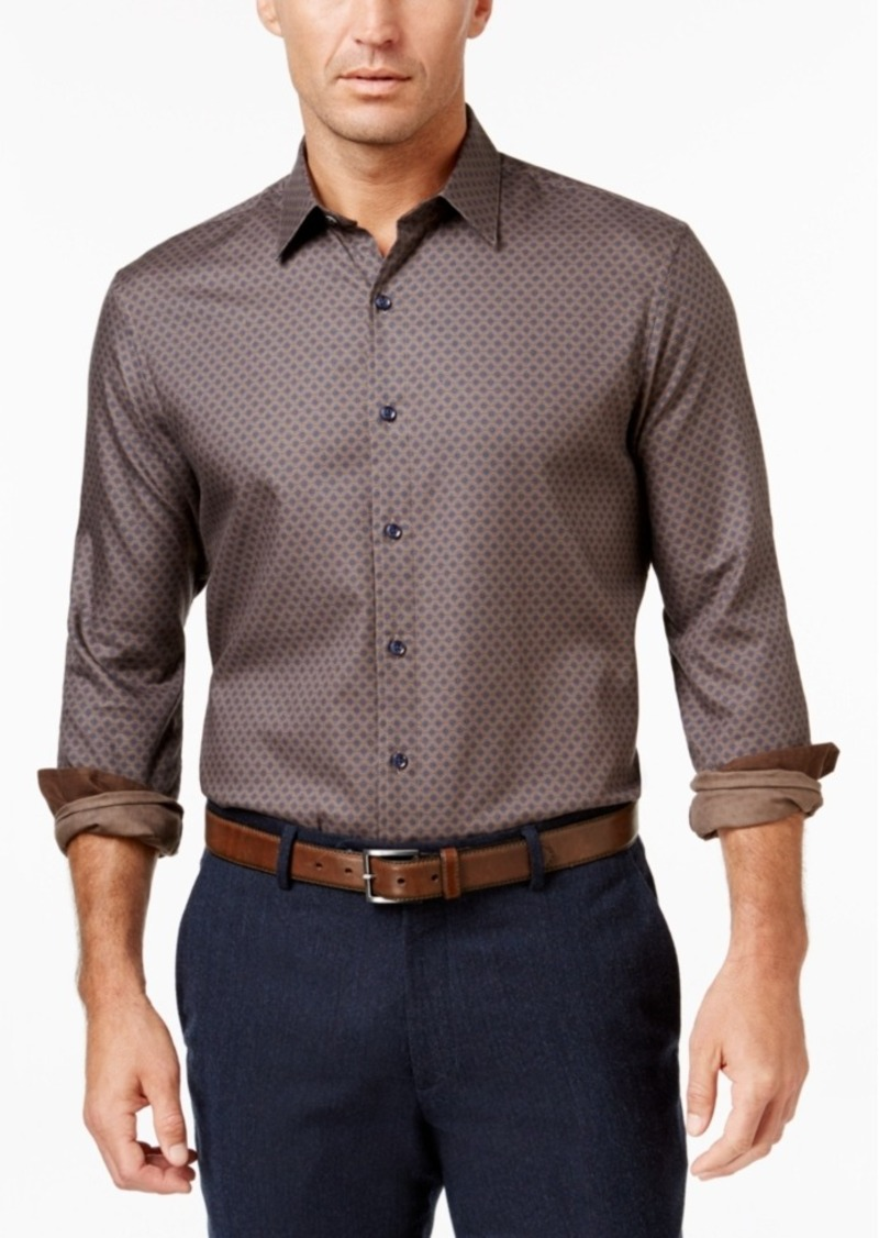 Tasso Elba Men's Pattern Long-Sleeve Shirt, Classic Fit
