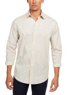 Tasso Elba Men's Pillo Melange Paisley Shirt, Created for Macy's