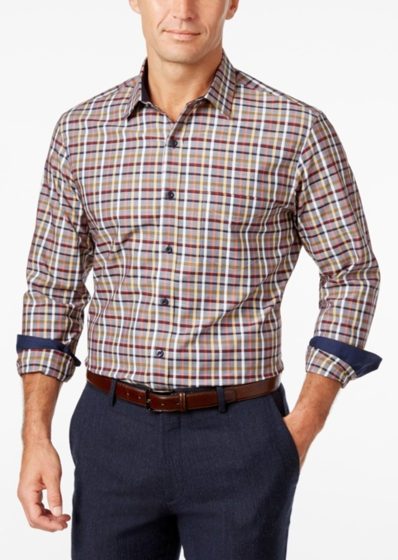 Tasso Elba Men's Plaid Long-Sleeve Classic-Fit Shirt, Created for Macy's