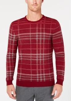 Tasso Elba Men's Plaid Merino Wool Sweater