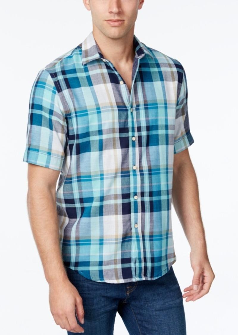 Tasso Elba Men's Plaid Short-Sleeve Shirt, Classic Fit