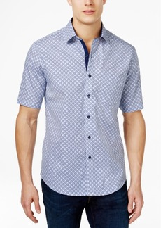 Tasso Elba Men's Print Short-Sleeve 100% Cotton Shirt, Created for Macy's
