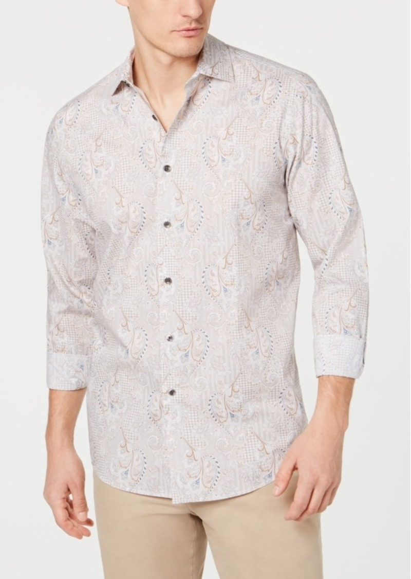 Tasso Elba Men's Paisley Printed Shirt, Created for Macy's