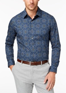 Tasso Elba Men's Ramini Medallion-Print Shirt, Created for Macy's